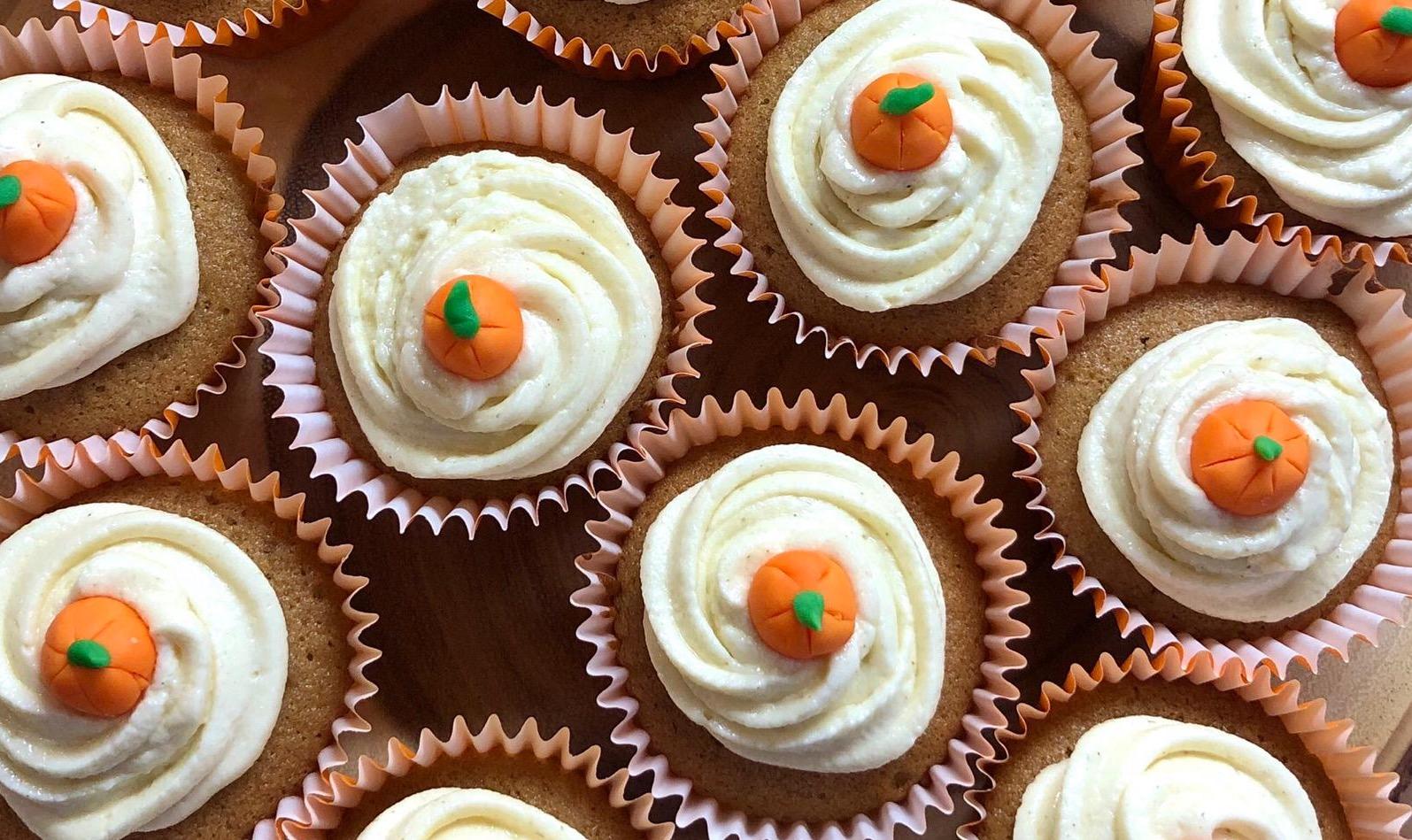Cupcake autunnali alla zucca