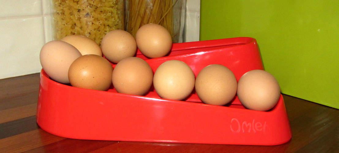 La rampa rossa per uova della Omlet